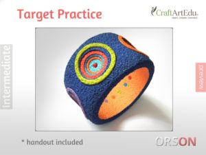Target practice bangle – layering & holes